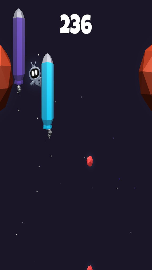 Galaxy Glider 1.0 launches on iOS - Unique One-Touch Space Game Image